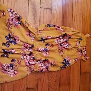 Yellow Romper (with pockets!!!)